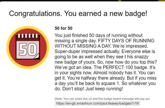 50 badge